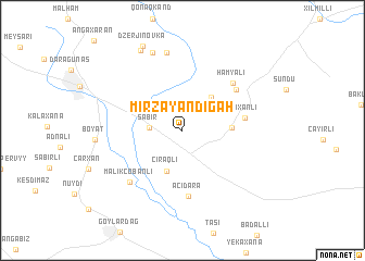 map of Mirzǝyandigah
