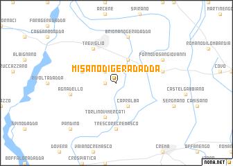 Misano di Gera dAdda Italy map nonanet