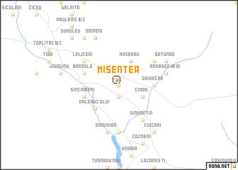 map of Misentea