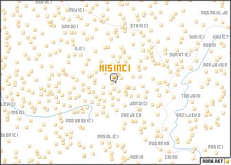 map of Mišinci