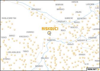 map of Miškovci