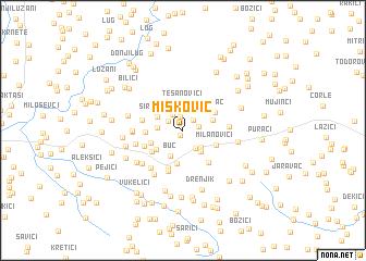 map of Mišković