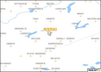 map of Misniki
