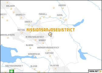 Map Of Mission San Jose District