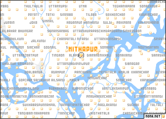 map of Mithāpur