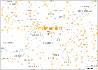 map of Mitrašinovići