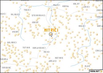 map of Mitrići