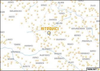 map of Mitrovići