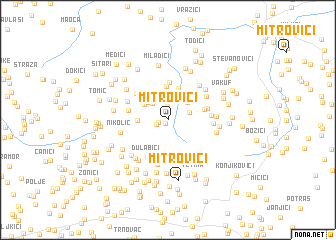 map of Mitrovići