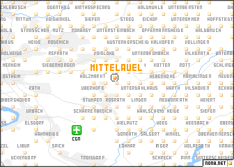 map of Mittelauel