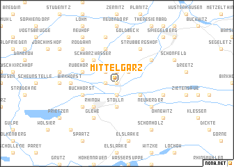 map of Mittelgarz