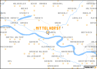 map of Mittelhorst