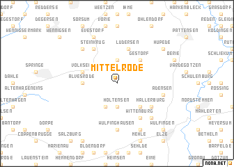 map of Mittelrode