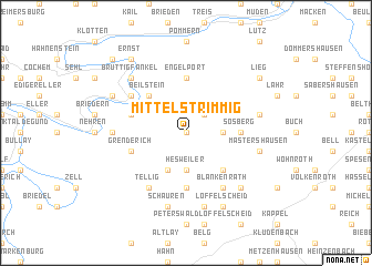 map of Mittelstrimmig
