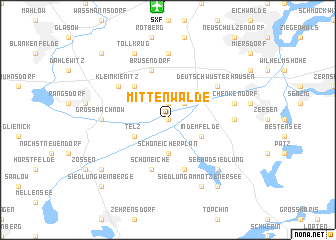 map of Mittenwalde