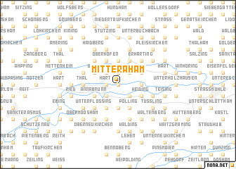 map of Mitteraham