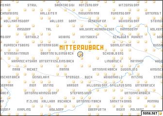 map of Mitteraubach