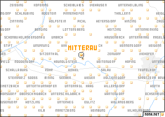 map of Mitterau