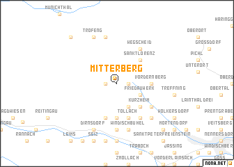 map of Mitterberg