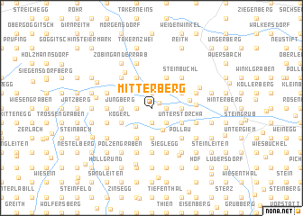 map of Mitterberg