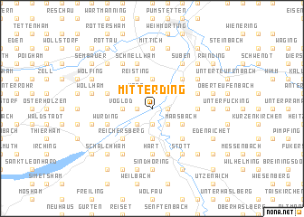 map of Mitterding