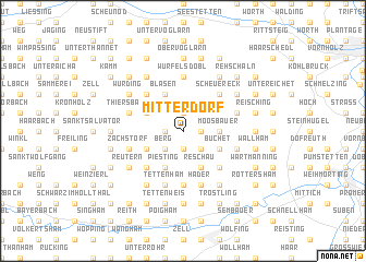 map of Mitterdorf
