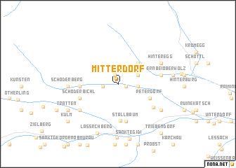 map of Mitterdorf