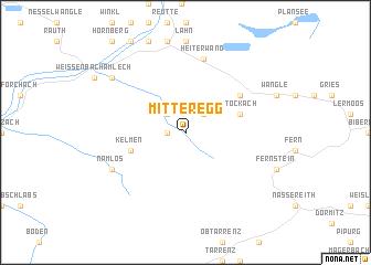 map of Mitteregg