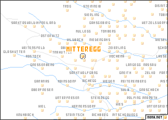 map of Mitteregg