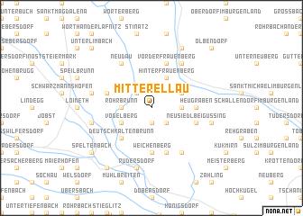 map of Mitterellau
