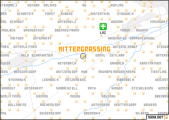 map of Mittergrassing