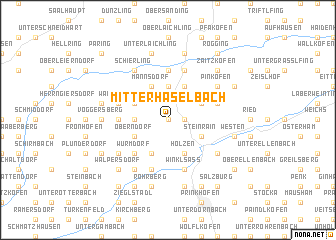 map of Mitterhaselbach