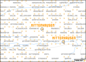 map of Mitterhausen