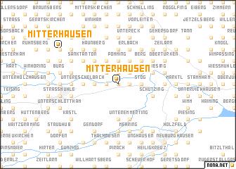 map of Mitterhausen
