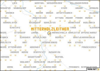 map of Mitterholzleithen