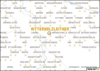 map of Mitterholzleithen
