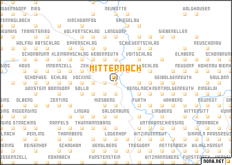 map of Mitternach
