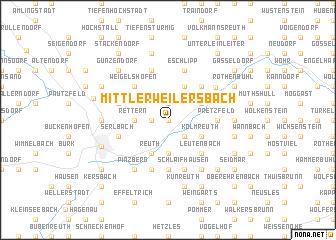 map of Mittlerweilersbach