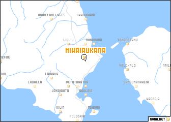 map of Miwaiaukana