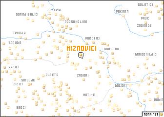 map of Mižnovići