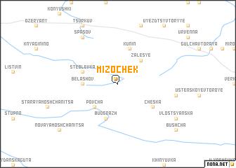 map of Mizochek