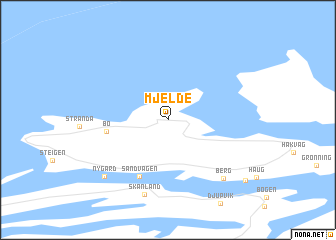map of Mjelde