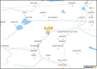 map of Mjøa