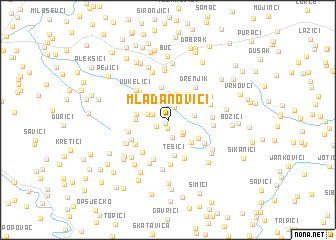 map of Mladanovići