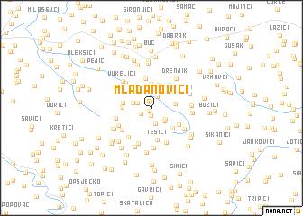 map of Mladanovići