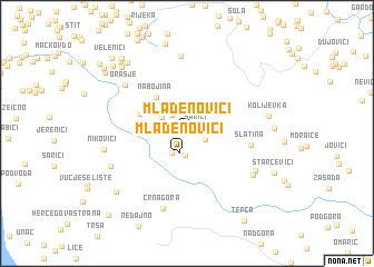 map of Mlađenovići