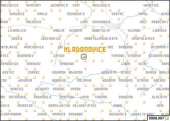 map of Mladoňovice