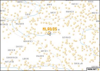 map of Mladoš