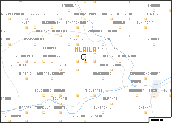 map of Mlaïla