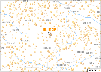 map of Mlinari